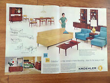 1959 Kroehler Furniture Ad The New Idea Collection New Concept in Decorating