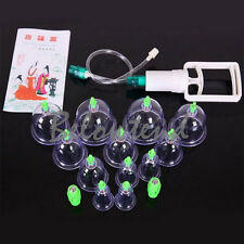 Useful 12cups Chinese Vacuum Therapy Antique Medical Fire Massage Cupping Set