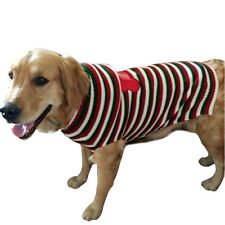 Cute Dog Sweater Large Warm Striped Bone Clothes Jumper Costumes *XMAS* Size:XXL