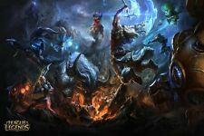 """League of Legends Alistar Versus Olaf Art Silk Wall Poster Game Picture 24x36"""""""
