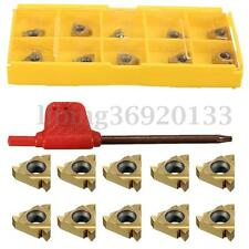 10pcs 11IR A60 CARBURO UTENSILI INSERTI Threading Insert Turning Holder + chiave