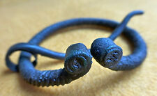 Viking Penannular Decorative Twisted Bronze Fibula