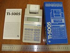 Collector's Item.  Vintage Texas Instruments TI-5005 Printer Calculator MINT