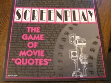 "SCREENPLAY: Game of Movie ""Quotes"" For Ages 16~Adult~~2~6 Players/Teams"