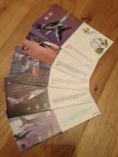 50th Anniversary Belgian Air Force unsigned RAF cover SET of 5  FRENCH version