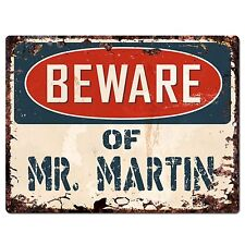 PP1433 Beware of MR.MARTIN Plate Chic Sign Home Store Wall Decor Funny Gift