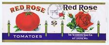 Original Red Rose tomato label St. Louis MO with 8/20/1993 FDC 2490 Lancaster PA