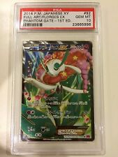 Pokemon PSA 10 GEM MINT Florges EX Full Art Phantom Gate 1st ed 092/088 SR XY4