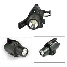 Compact Tactical Flashlight Torch & Red Laser Sight Hunting Game Portable LS