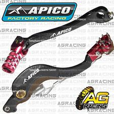 Apico Black Red Rear Brake & Gear Pedal Lever For Honda CRF 450R 2008-2016 MotoX