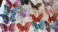 Joblot of 36 Double wing  big Butterfly Fridge magnets New Wholesale