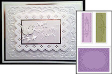 Sizzix embossing folders OVAL LACE folder set 657761 frames Cuttlebug Compatible
