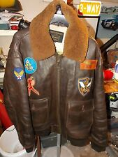 Vintage Schott G-1 US Navy Aviation Flight Pilot Bomber Leather Jacket SIZE 3XL