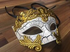 Mens Masquerade Mask Filigree Cream Venetian Ball Prom Christmas Party Phantom