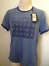 JOHN VARVATOS STAR USA T SHIRT STARS SAPPHIRE SIZE SMALL BRAND NEW WITH TAGS