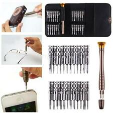 25Pc Mini Repair Kit Hand Tool Screwdriver Set for Eyeglasses Laptop Watch New