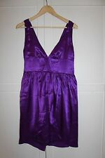 Women's NEW Short Evening Party Dress Purple Size S 8-10 Satin Xmas SEXY