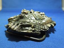 Vintage 1984 Knight Rescue Damsel from Dragon By The Great American Belt Buckle
