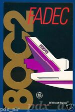 GENERAL ELECTRIC GE AIRCRAFT JET ENGINES FADEC 80C2 MD-11 STICKER