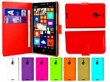 Magnetic Leather Book Flip Wallet Cover Pouch Case Card Slots For Nokia Lumia