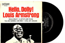 """LOUIS ARMSTRONG - HELLO, DOLLY! - NEW ZEALAND EP 7"""" 45 VINYL RECORD PIC SLV 1964"""
