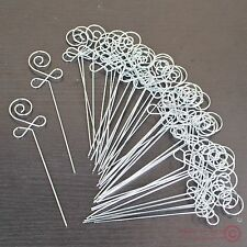 Lot 50pc new DIY craft flower bud wire picture memo card photograph clip holders