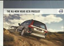 VOLVO XC70 DETAILED PRICES,SPECIFICATIONS,COLOURS,ACCESSORIES BROCHURE 2008 ED.3