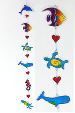 Sealife suncatcher Fish Dolphin Whale Turtle Squid Seahorse heart FREE SHIP