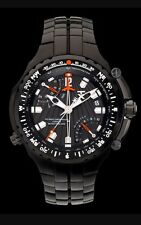 TX Flyback Chronograph Black Watch Dual Time & Compass T3B851 NEW! $550+ Retail