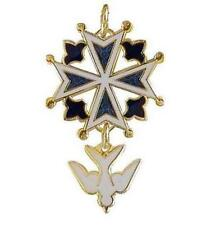 Enameled Huguenot Cross Pendant