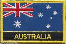 Australia Flag Embroidered Patch Badge - Sew or Iron on