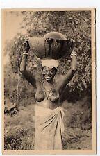 AFRIQUE OCCIDENTALE ethnique nus exotiques SENEGAL une porteuse d'eau