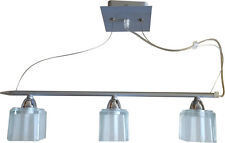 Orlight Modern Suspended Ceiling Bar Light Fitting Chrome 3 Way Spot G9 LED Lamp