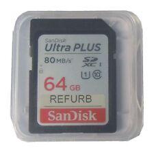 Sandisk 64G Ultra SD SDXC SDHC 64GB 64 G GO Class 10 80MB/s Full HD SDSDUNB-064B