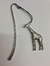 Giraffe PP-A10 Pattern Bookmark 3D English pewter charm