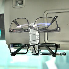Dual Clip Car Accessory Sun Visor Glasses Sunglasses Eye Glasses Card Pen Holder