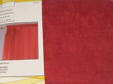 """Style Selections CHLOE Red Sheer Panel Curtain Drape 51"""" by  84L  NIP"""