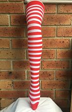 OVER THE KNEE SOCKS Striped High Thigh Ladies Long Womens Stripey Stocking