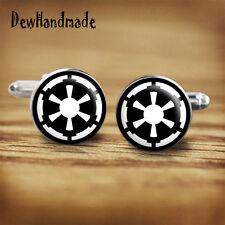 Star Wars Galactic empire sigil handmade cufflinks for geeks, nerds