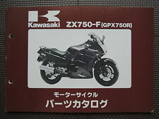 JDM KAWASAKI GPX750R ZX750 F1 F2 Original Genuine Parts List Catalog GPX 750 R