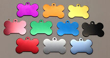 300 Bulk ID Wholesale Bone Pet identification blank tags Anodized Aluminum #1USA