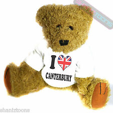 I Love Canterbury Novelty Gift Teddy Bear