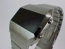 GUN METAL Rare Old Vintage 70s 1970s Style LED LCD DIGITAL Retro watch tsg