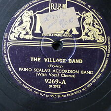 78rpm PRIMO SCALA ACCORDION BAND the village band / donkey`s serenade