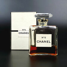 Vintage CHANEL No. 5 Extrait Parfum / Perfume Bottle 1/2 oz. Size 8 ~30% Full
