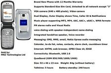 New Nokia 6085 Flip Fold Dual Display FM Radio Bluetooth Mobile Phone - Unlocked
