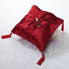 Wedding Ceremony Red Sash Wedding Ring Bearer Pillow