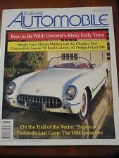 Aug 1998 Collectible Automobile Mag Corvette Checker Taxi Morris Markin Packard