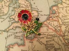 HM ARMED FORCES VETERAN POPPY MOD BRITISH ARMY RUC POLICE UDR pin badge 12