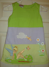 WALT/DISNEY/WORLD~girls~TINKERBELL/EMBROIDERED/COTTON/LINED/DRESS!(XS)BRAND/NEW!
